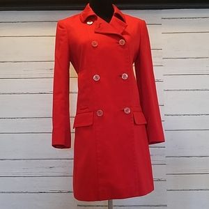 Juicy couture red trench coat sz sm